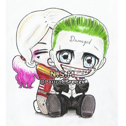 "lauracbreezy: "" The Joker ❤ Harley Quinn #SuicideSquad #EntertainmentWeekly """