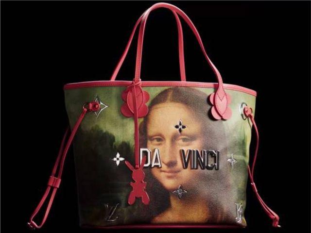 Uma das bolsas desenhadas por Koons para a LV
