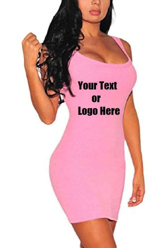 DG Custom Graphics is your premier site for custom designed apparel.    We can design your Women's Summer Classic Scoop Neck Sleeveless Bodycon Mini Tank Dress with your custom artwork, text or logo. Forward your artwork with one color. If additional colors are needed we can provide a custom quote.    Design can be put on front or back.    Forward us the following info.    1.Pick One Color (Choices: Blue, Black, White, Red) Additional colors available upon request and with a surcharge.  2.Upload Artwork to us. Include your invoice #.  3. Specify where you want the artwork to be placed. (front, back)    23.5%cotton+73.3%Polyester+3.2%Spandex   Imported   Features: bodycon, solid, sleeveless, above knee mini,scoop neck, hollow out   Occasion: casual or formal wear, such as cocktail, party, evening dresses, prom etc.   It is a classic style that never out of date, Body-hugging design makes you look slimmer. High quality fabrics keep you cool and comfortable all day and night!   Size: Small=(US4-6),Medium=(US8-10),Large=(US12-14);Please check the size chart in below product description.    We do not reproduce anything with a copyright due to copy right laws and regulations.    ***No Returns on any custom garmets.*** | Shop this product here: http://spreesy.com/dgcustomgraphics/112 | Shop all of our products at http://spreesy.com/dgcustomgraphics    | Pinterest selling powered by Spreesy.com