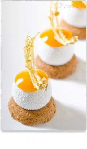 Le Beret - a stunning dessert of Coconut Crumble &  Mousse, Guava and Passionfruit