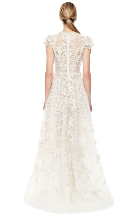 Avorio Multi Tulle Illusione Gown by Valentino