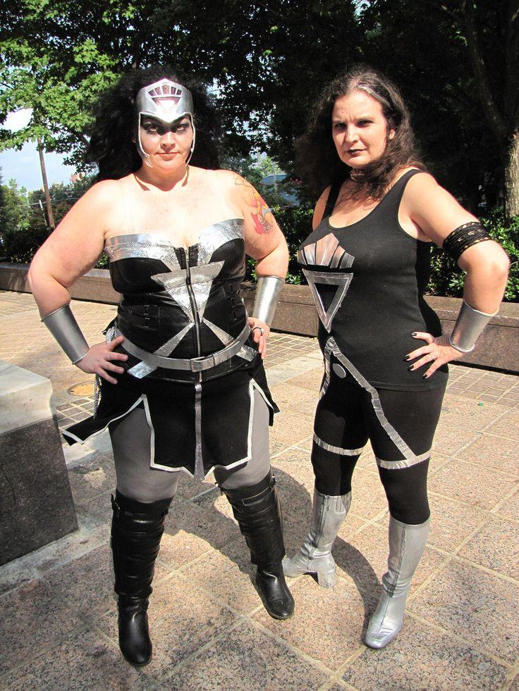 A pair of Black Lanterns! Black Lantern Wonder Woman and Donna Troy Taken at Dragon Con 2013