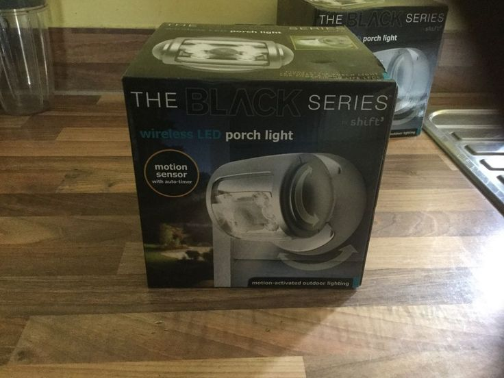 The Black Series Wireless LED Porch Light