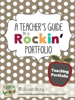 Best 25 teacher portfolio ideas on pinterest teaching for Teaching portfolio template free