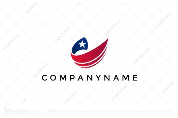 Logo for sale: Us Flag Logo