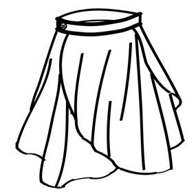 overlapping petal skirt