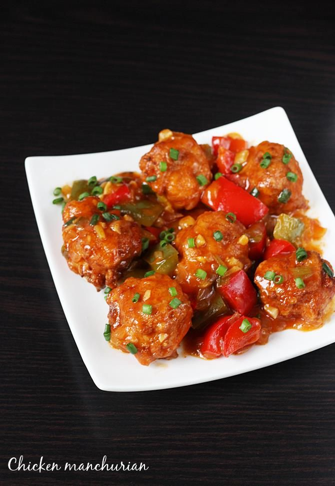 indo chinese food chicken manchurian