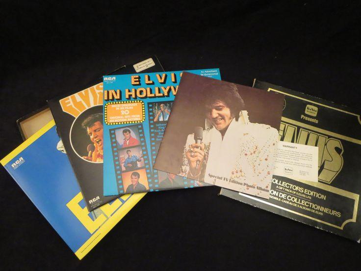 Vinyl Record Elvis A Collectors Edition TeeVee RCA/ Album  33 Lp  / Elvis Vinyl Record Collection case /Recorded Music Vintage