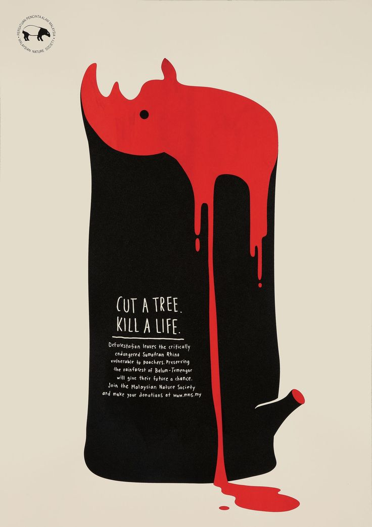 Cut A Tree. Kill A Life. | Endangered Rainforest Animals Awareness Illustration Posters | Award-winning Graphic Design | D&AD