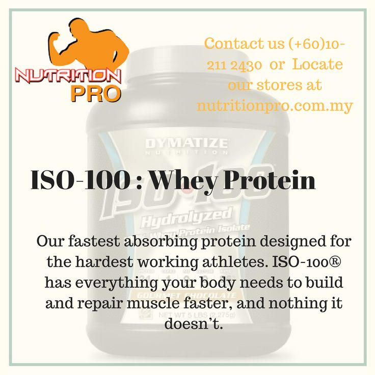 Our fastest absorbing protein designed for the hardest working athletes. ISO-100® has everything your body needs to build and repair muscle faster, and nothing it doesn't. Contact us (+60)10-211 2430.