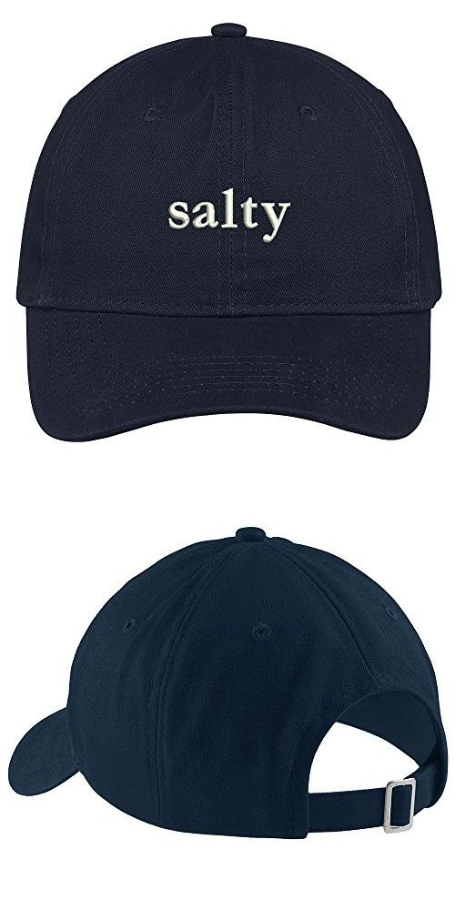 Salty Embroidered Soft Low Profile Cotton Cap Dad Hat - Navy ... 5573d8df990