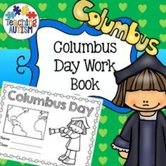 Columbus Day Work Book Activities This work book comes in both American & British spellings when you download. It is black and white for ink friendly printing and has a total of 18 pages including the cover. The Columbus Day work book includes; ♦️ front cover ♦️ word search ♦️ color