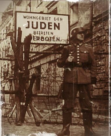 Entrance to the Jewish ghetto in Varsovie, WWII                                                                                                                                                                                 More