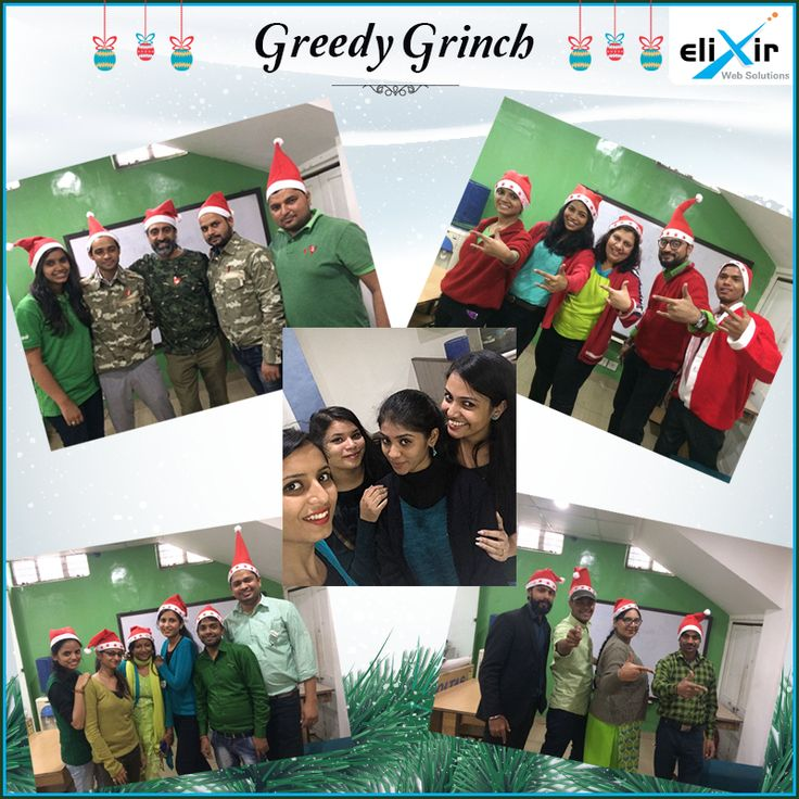 "All Elixirites are eagerly waiting for #Christmas this year. We began our celebration from today with the ""#GreedyGrinchDay"". Everybody dressed up like the Grinch or added some elements of him. We had a small game session with team building activities."