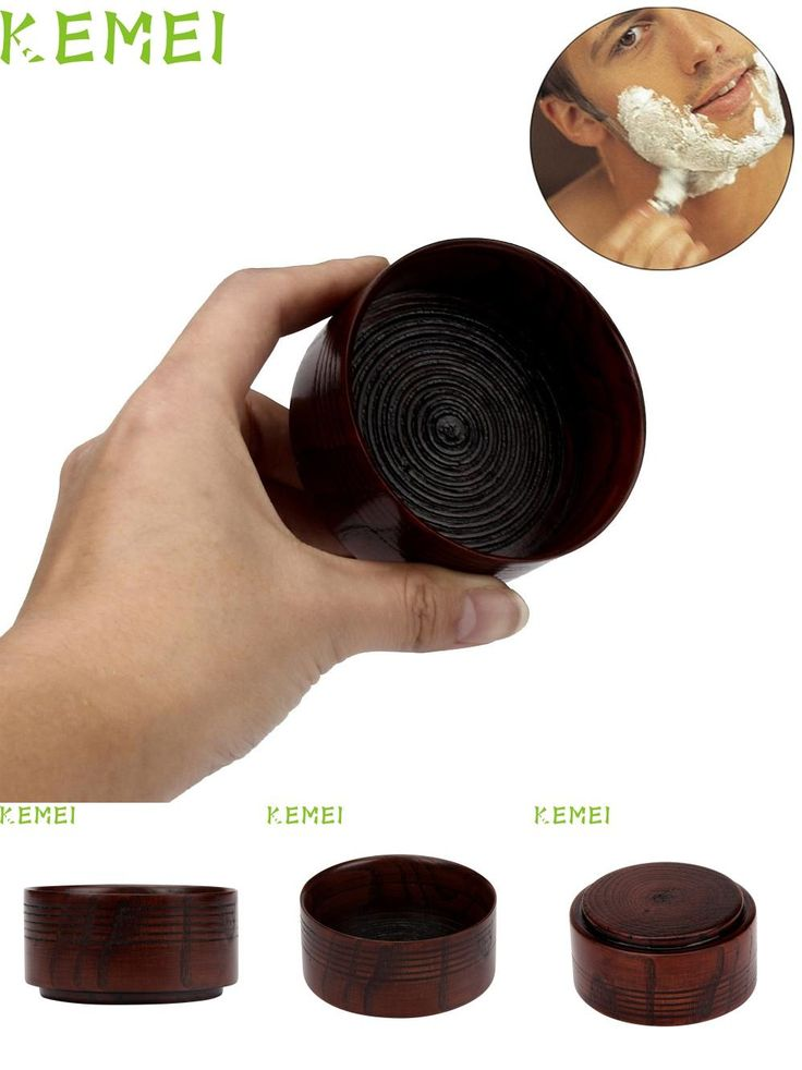 [Visit to Buy] 2017 Hot   Fashion Wooden Soap Bowls Men's Shaving Mug Bowl Cup For Shave Brush Taza de afeitar Mar23 #Advertisement