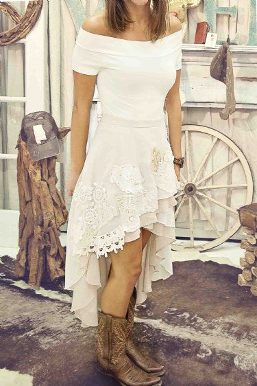 Women's Judith March Shabby Chic High Low Skirt Preorder