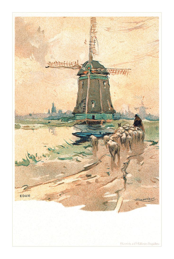 Edam Netherlands Map%0A https   flic kr p drxW Z   Postcard of Edam