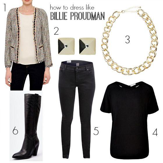 How to dress like Billie Proudman