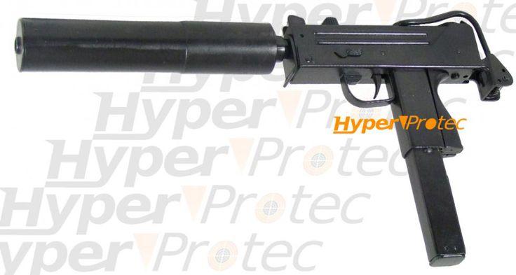pistolet mitrailleur m10 avec silencieux