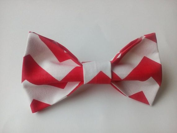 Bow tie Red chevron bow tie Bowties for men by accessories482