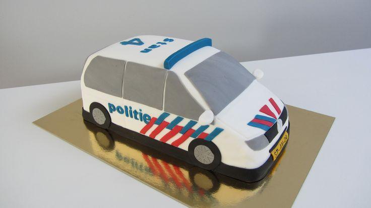 Politie auto taart