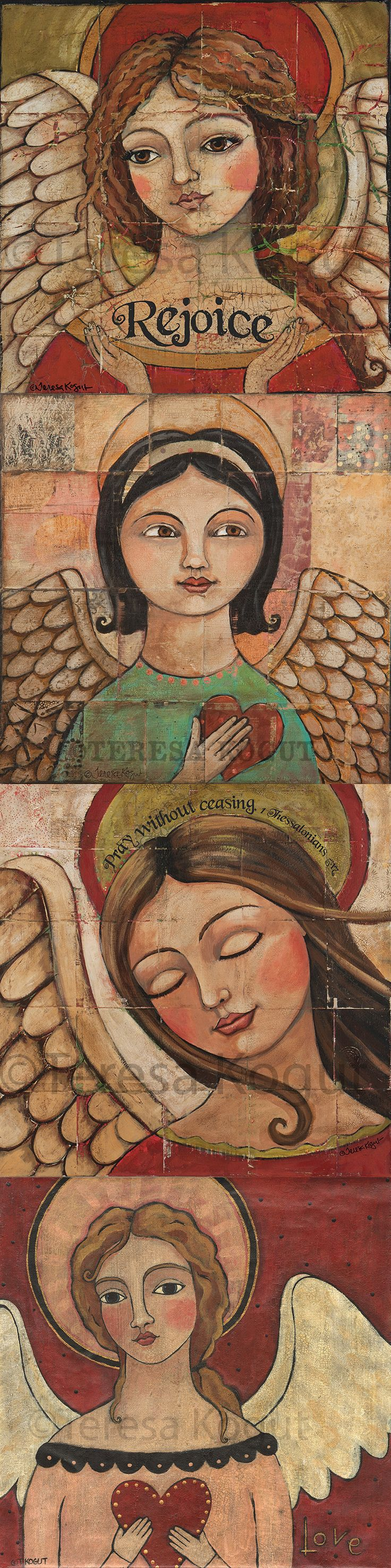 Angel prints for your home and or office. Bring a sense of calm and peace over the room with a Teresa Kogut angel print. Available at Etsy.