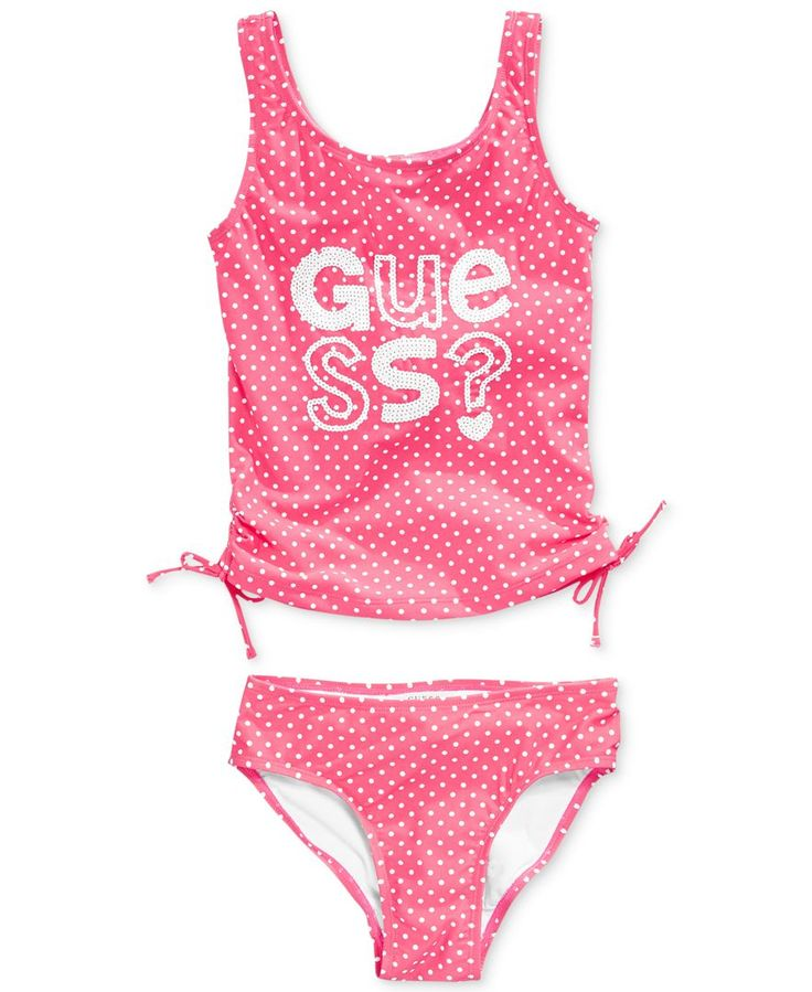 Guess Girls' 2-Piece Sequined Tankini Swimsuit