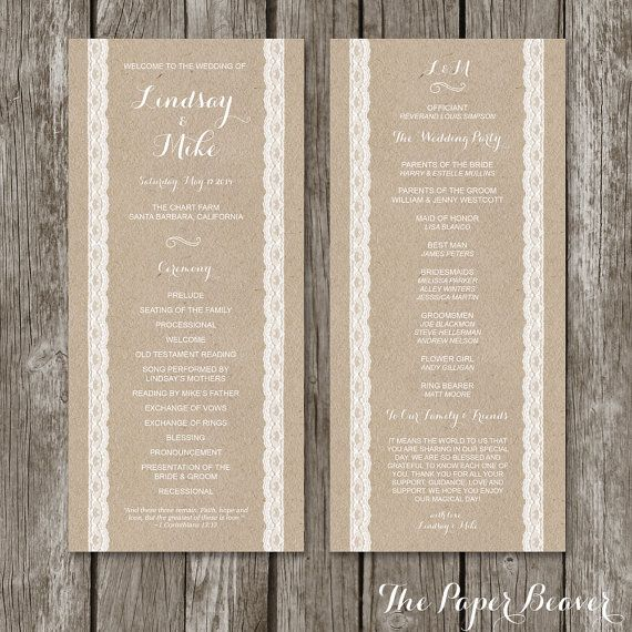 10 best ideas about Wedding Ceremony Booklet Templates on – Wedding Brochure Template