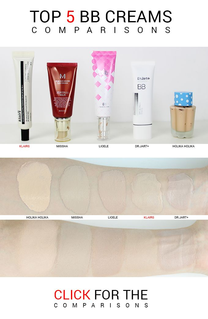 An in-depth comparison of the top 5 most popular Korean bb cream world wide. Loved internationally, but how do they compare side by side? Click to see! #koreanbbcream #bestbbcream #bbcream