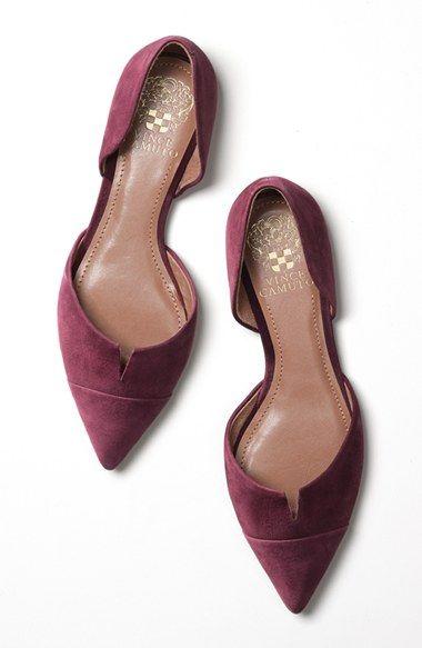 Vince Camuto 'Halia' d'Orsay Pointy Toe Flat ($97.95) - Dark Garnet (Oxblood) Suede | Nordstrom.