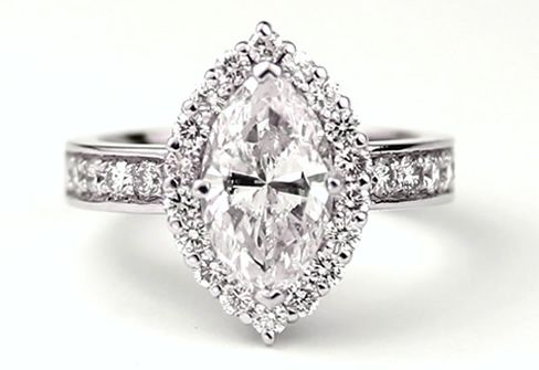 Mountings for Marquise Diamond | ... marquis diamond was re-modeled into a bespoke engagement ring setting