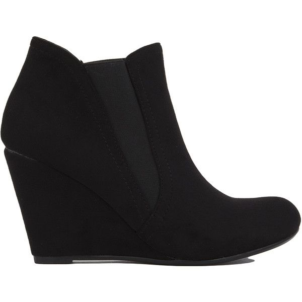 a75f7843f386 25 best ideas about Black Wedge Ankle Boots on Pinterest
