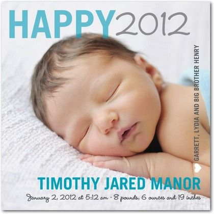 1000 images about Birth announcement – New Years Birth Announcements