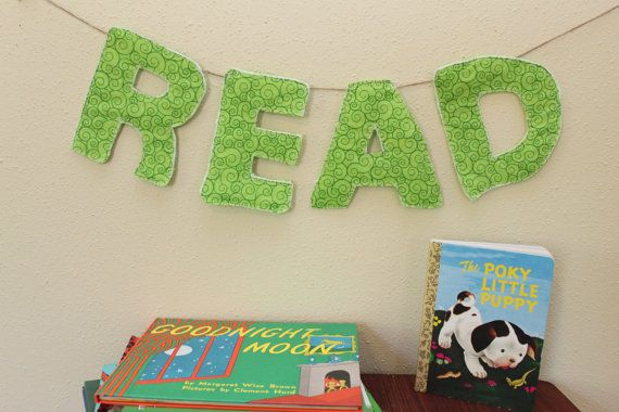 Read Library Decoration, bookworm,  teacher classroom gift, reading nook, kids room decor, photo prop, playroom, lime green