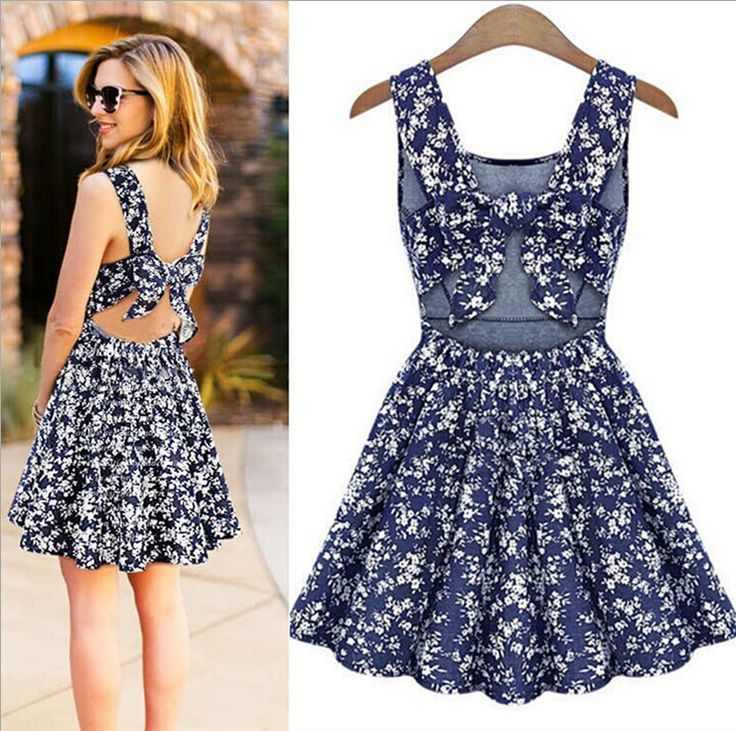 Find More Dresses Information about Retro Fashion Women summer Dress 2015 New Sexy Girl A Line Bow lacing straps Cowboy Floralbackless dress Women's clothing x027,High Quality dress policies,China dresses sexy Suppliers, Cheap dress check from Best&Price on Aliexpress.com