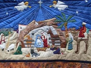 Paper pieced Nativity quilt