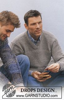 DROPS Men's Pullover in Alpaca ~ DROPS Design