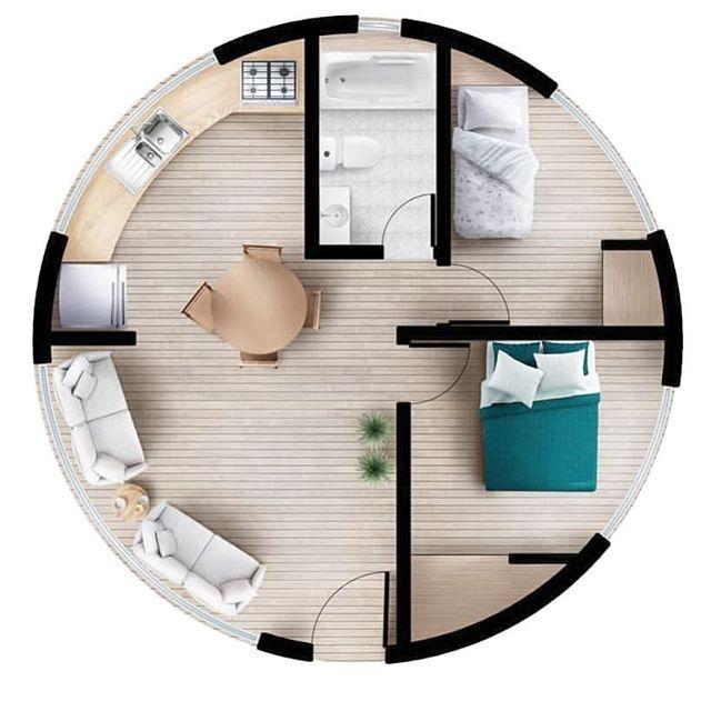 Circular Floor Plan Round House Plans Floor Plan Design Small House Floor Plans