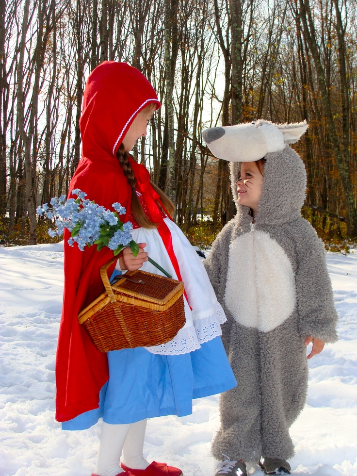 Sister Halloween costumes. Little Red Riding Hood and the Big Bad Wolf :): Halloween Decor, Red Riding Hood, Little Red, Big Bad Wolf, Halloween Costumes, Halloween Spookiness, Sister Halloween