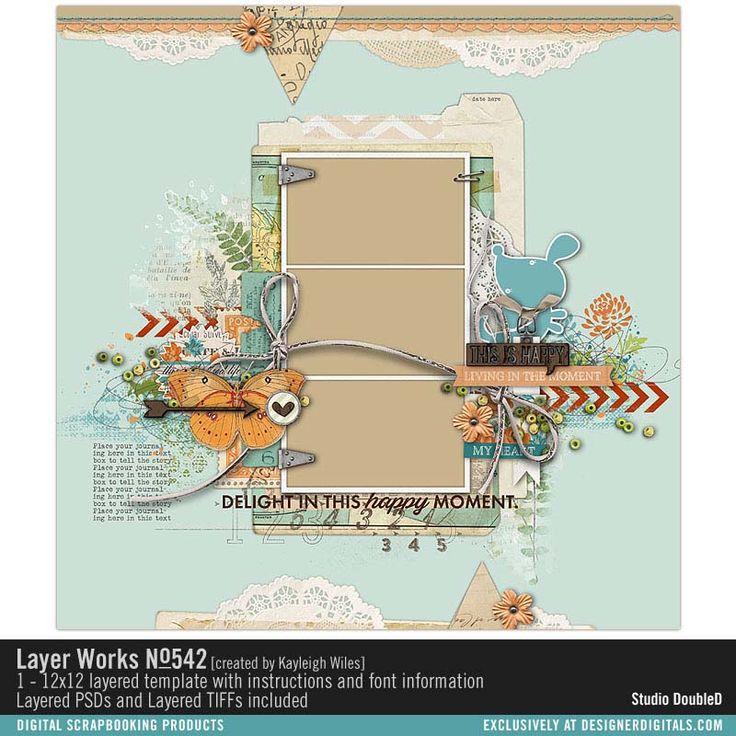 Layer Works No. 542- Studio Double-D Templates- LT984348- DesignerDigitals