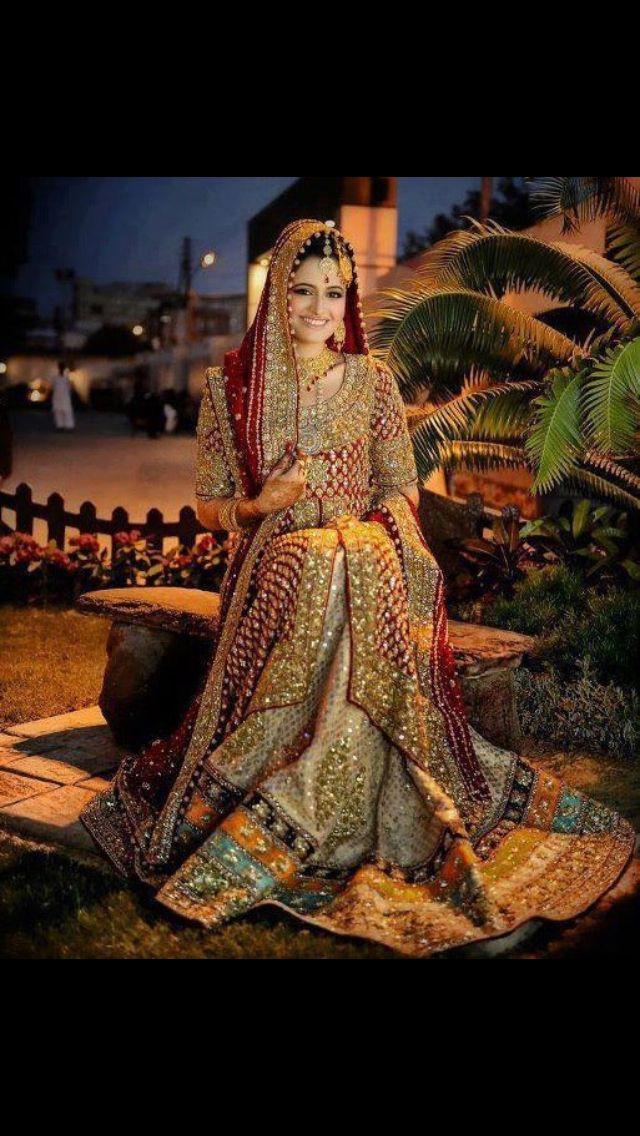 Pakistani wedding dress #PerfectMuslimWedding.com