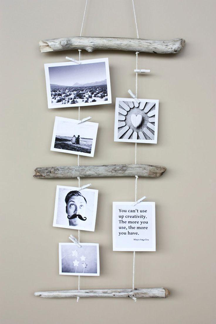 Iedereen heeft wel een stapeltje foto's liggen die een plek verdienen in huis, bekijk vijf leuke ideeën voor foto aan de muur.