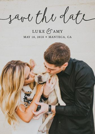 """Pretty Love"" - Full-Bleed Photo, Modern Save The Date Cards in Onyx by Christine Taylor."
