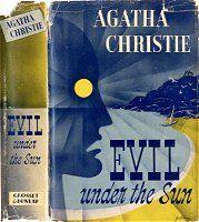 Agatha Christie's novel Evil Under the Sun (1941). Dust-jacket illustration of the first US edition