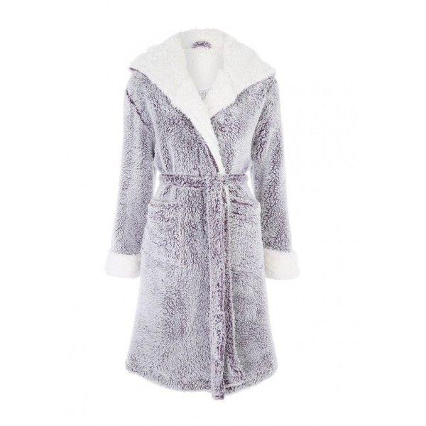 Girls Blue Snowflake Queen Fleece Hooded Dressing Gown Bathrobe Robe
