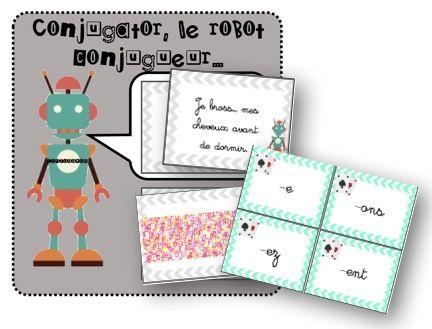 Je partage ici dans cet article un petit jeu de cartes pour permettre aux élèves de réviser les terminaisons du présent pour les verbes des 1er et 2ème groupes. Il s'agit du jeu Conjugator, l…
