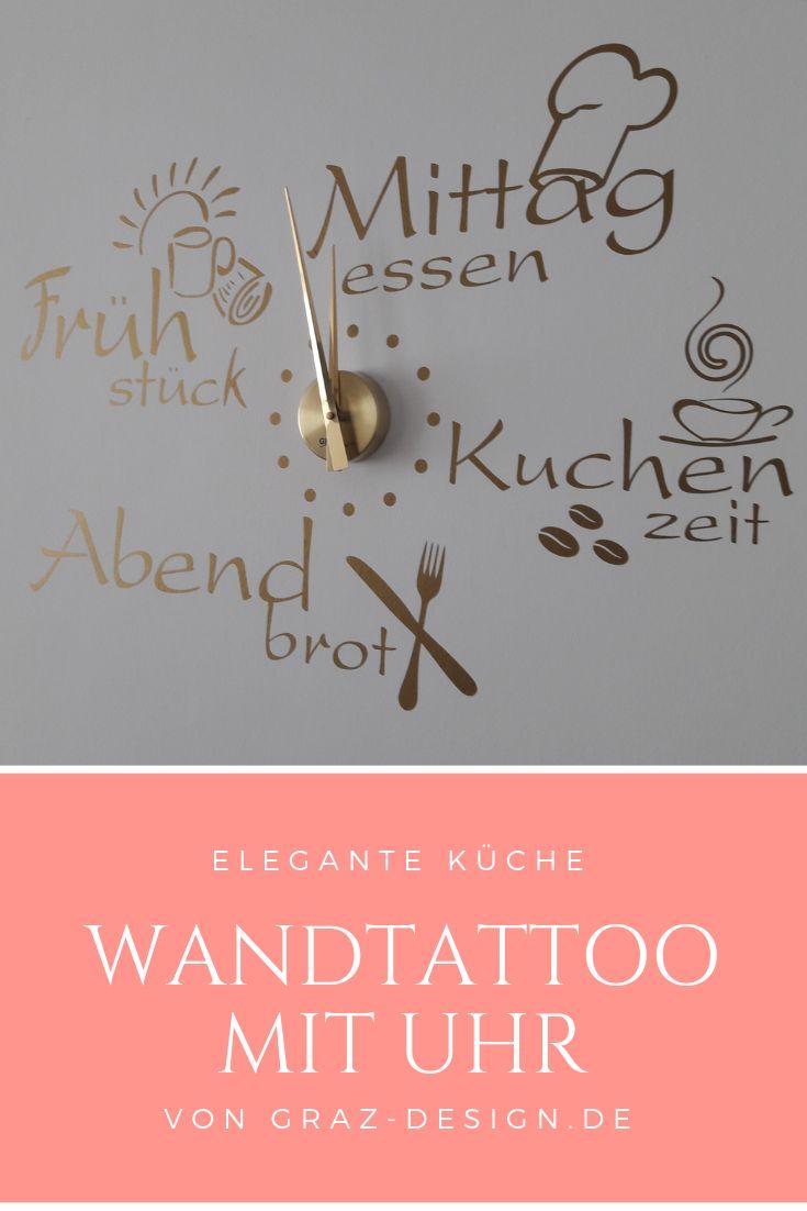 Wandtattoo met klok voor je keuken  – Küche