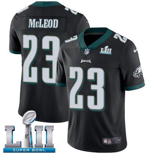 dc22e4bd9 Nike Eagles  23 Rodney McLeod Jr Black Alternate Super Bowl LII Men s  Stitched NFL Vapor