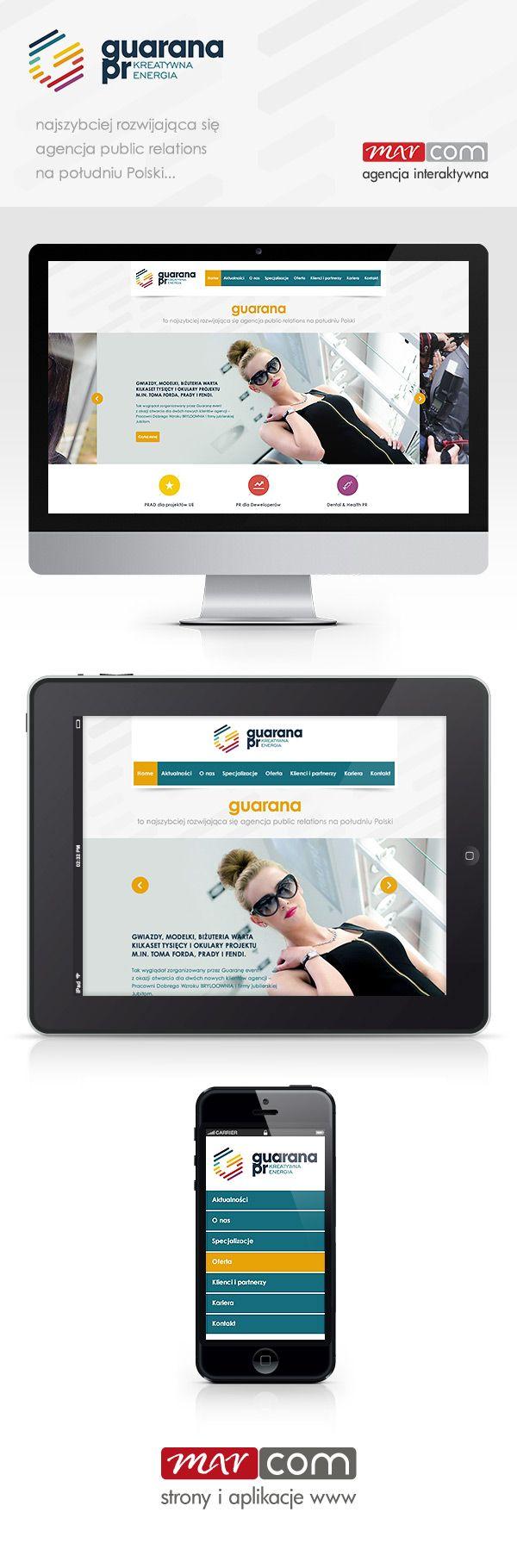 Responsywne strony internetowe - GuaranaPR Katowice - www.guaranapr.pl - realizacja Marcom Interactive,  Śląsk. / Responsive webdesign GuaranaPR Katowice by Marcom Interactive Poland #responsywnestronyinternetowe #rwd #responsivewebdesign #agencjainteraktywna