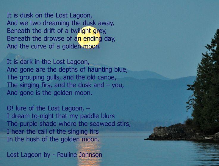 Lost Lagoon by - Pauline Johnson